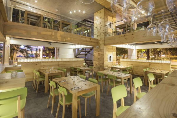 This fantastic restaurant is found on the ground floor