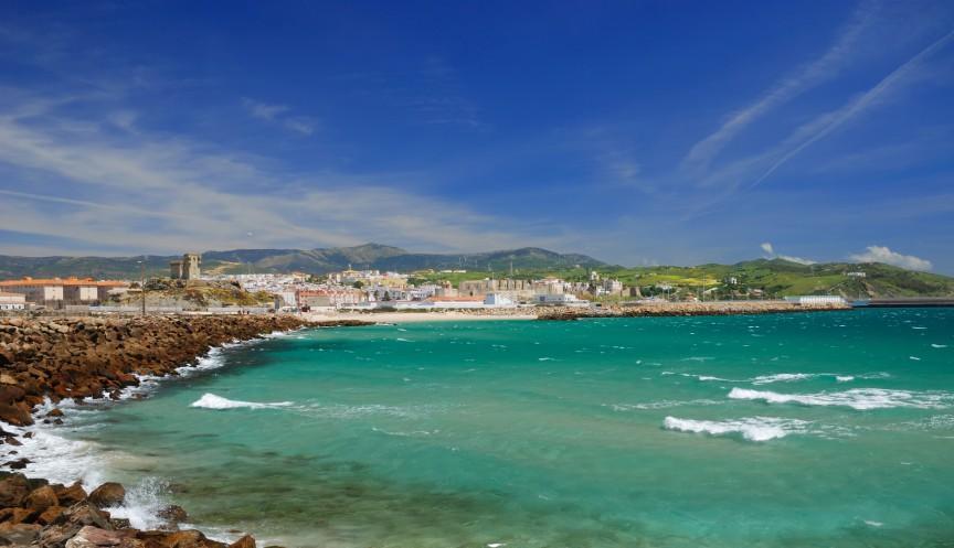 Windy bay of Tarifa, Spain