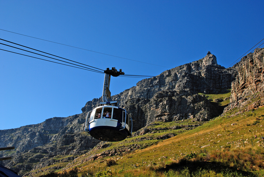 funicular on Table Mountain(Capetown)